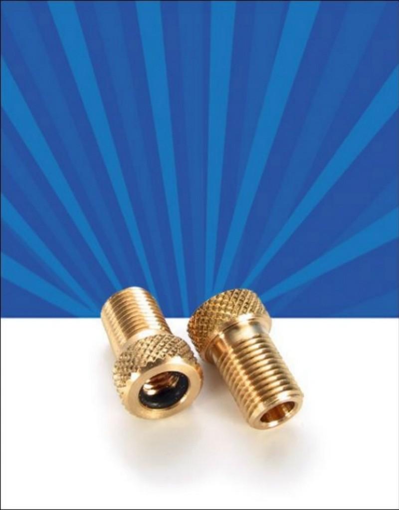 Redukce ventilku z galuskového na autoventil JOE´S mosaz 1 ks