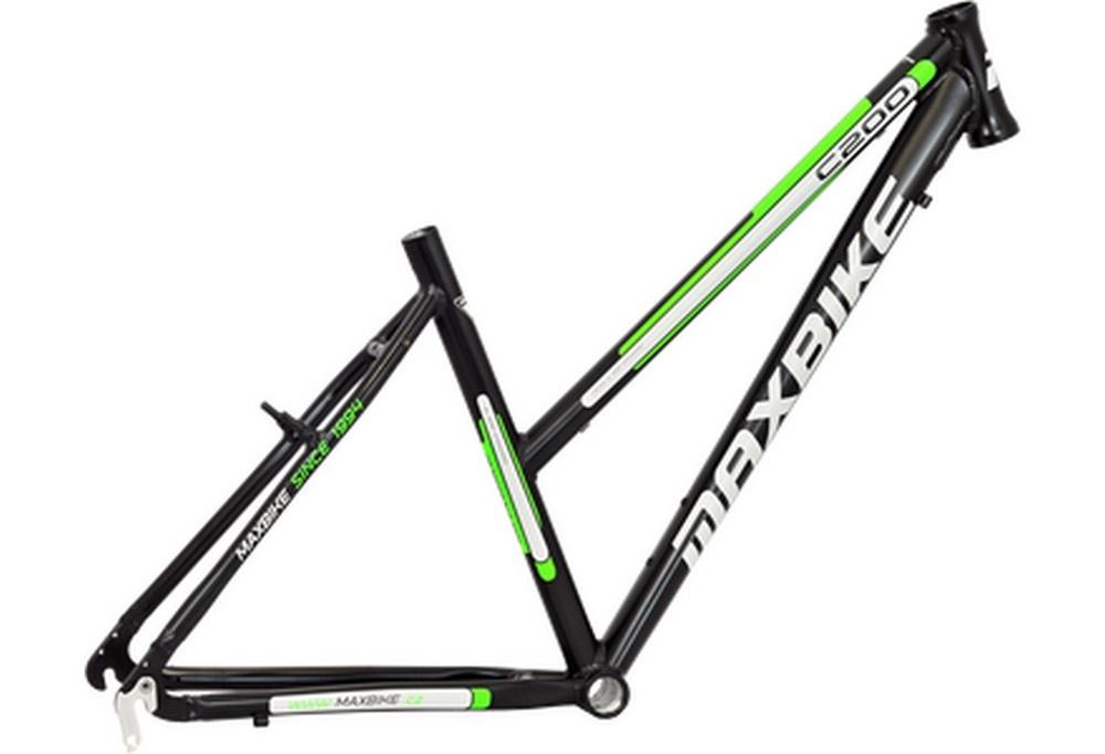 18' Rám ALU 28' C200-D Maxbike černá mat zelená 2017