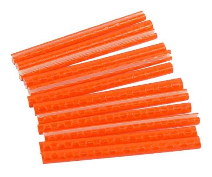 Reflexní trubičky do drátů, oranžové odrazky 12ks
