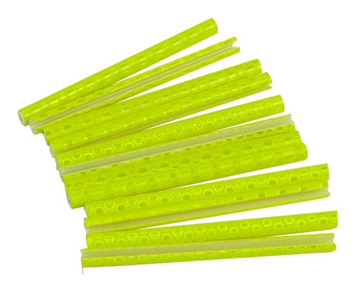 Reflexní trubičky do drátů, žluté odrazky 12ks