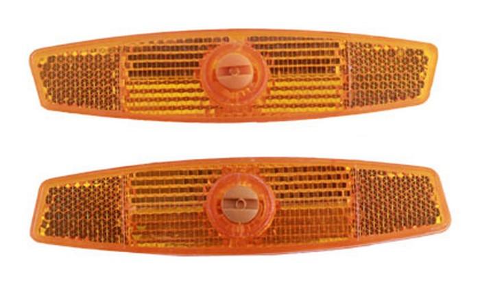 Odrazky do drátů oranžové na bajonet 2ks