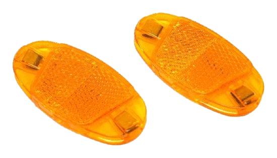 Odrazky do drátů oranžové nacvakávací 1ks