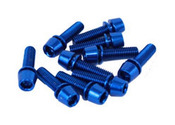 Šroub imbus M5 * 15 nerez ocel modrý na košík