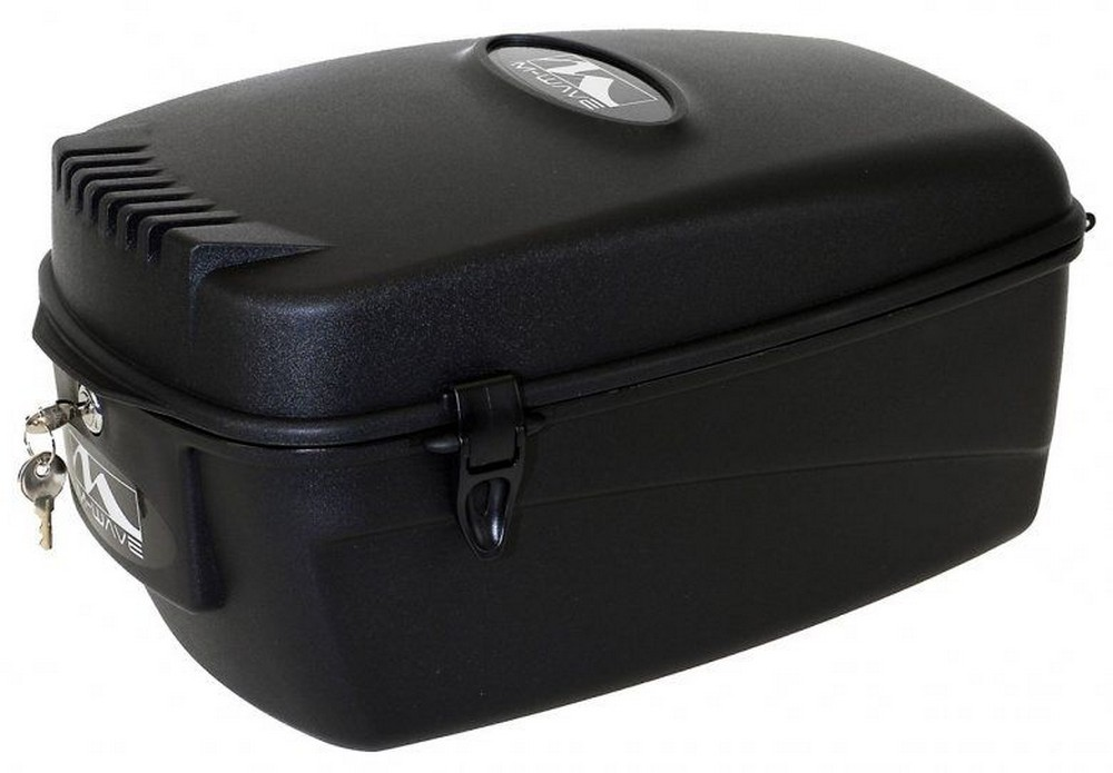Box na nosič plastový 17L zamykací kufr černý M-WAVE