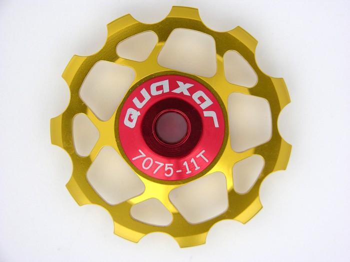 Kladka 11 zubů do přehazovačky zlatá Quaxar